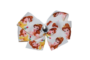 Belle White Princess Bow (Disney) - Dream Lily Designs