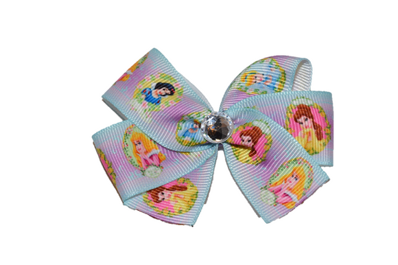 Sleeping Beauty Snow White Belle Princess Bow (Disney) - Dream Lily Designs