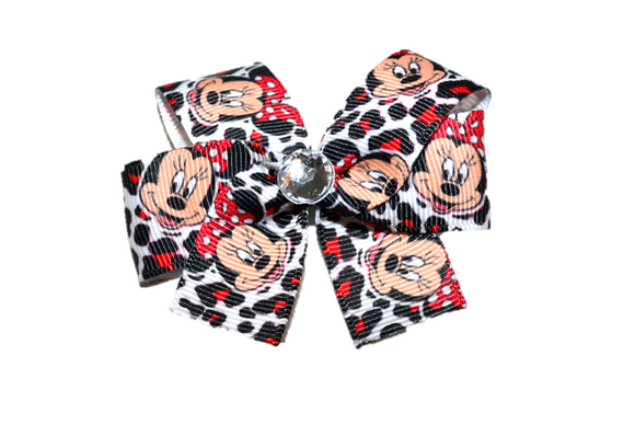 Cheetah Minnie Bow (Minnie) - Dream Lily Designs