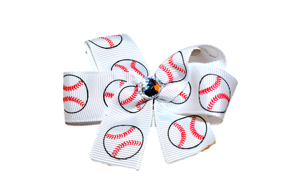 Baseball Bow (Sports) - Dream Lily Designs