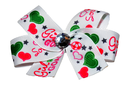 Soccer Girl Bow (Sports) - Dream Lily Designs