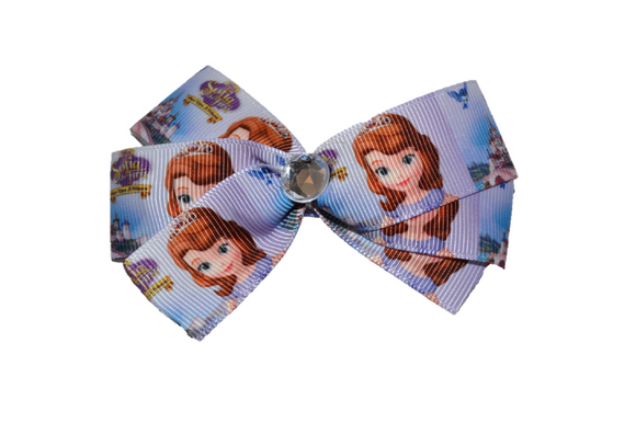 Sofia the First Light Purple Disney Junior Princess Bow (Disney) - Dream Lily Designs