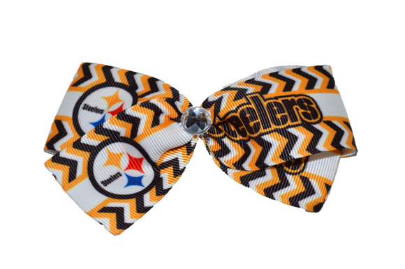 1.5 Inch Steelers Bow (Sports Teams) - Dream Lily Designs
