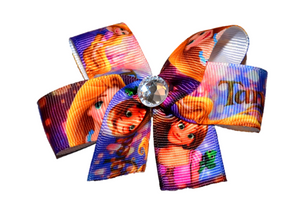 Tangled Rapunzel Princess Bow (Disney) - Dream Lily Designs