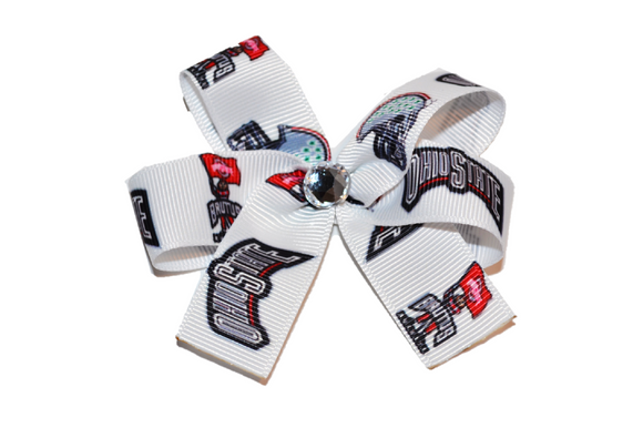 Ohio State Football and Brutus Bow (Sports Teams) - Dream Lily Designs
