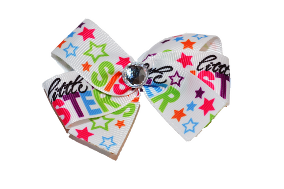 Little Sister Star Bow (Sister) - Dream Lily Designs