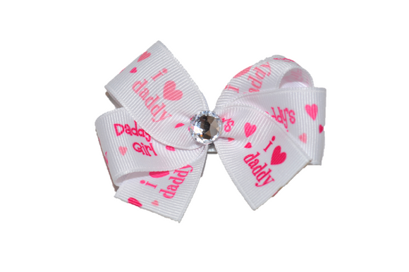 I Love Daddy Bow (Misc Patterns) - Dream Lily Designs