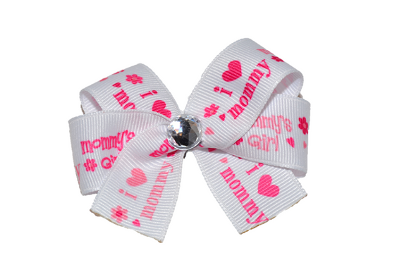 I Love Mommy Bow (Misc Patterns) - Dream Lily Designs