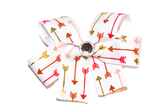 White Arrows Bow (Misc Patterns) - Dream Lily Designs