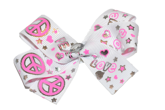Peace and Love Bow (Misc Patterns) - Dream Lily Designs