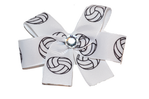 Small Volleyball Bow (Sports) - Dream Lily Designs