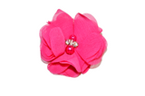 Hot Pink Crystal Chiffon Clip - Dream Lily Designs