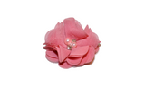Dusty Rose Pink Crystal Chiffon Clip - Dream Lily Designs