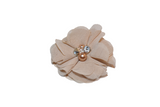 Tan Crystal Chiffon Clip - Dream Lily Designs