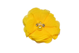 Yellow Crystal Chiffon Clip - Dream Lily Designs