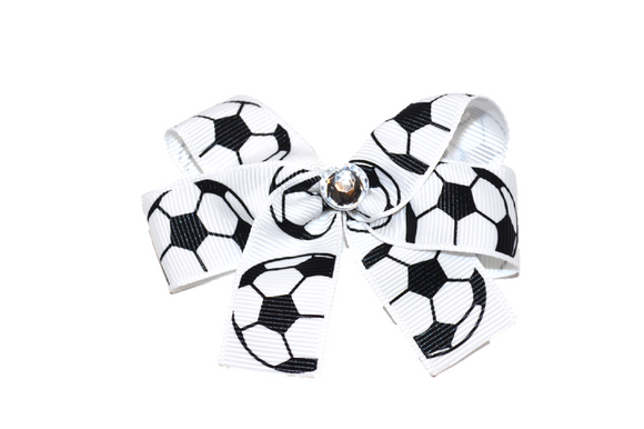Soccer Bow (Sports) - Dream Lily Designs