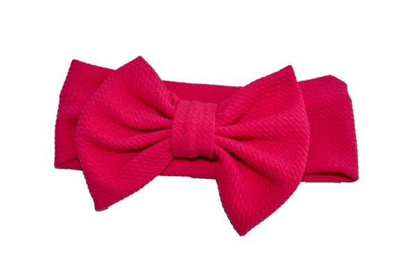 Fabric Bow Baby Headband - Hot Pink - Dream Lily Designs