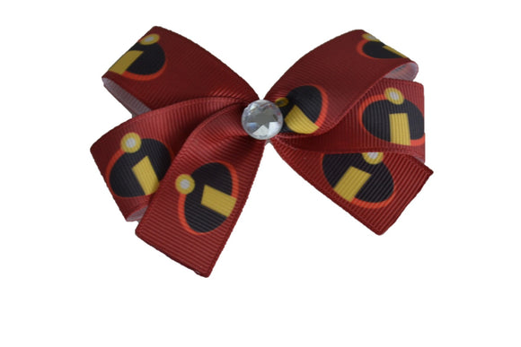 Maroon Movie Incredibles I Bow (Disney) - Dream Lily Designs