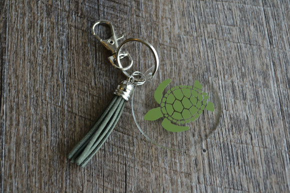 Acrylic Circle Keychain - Sea Turtle - Dream Lily Designs