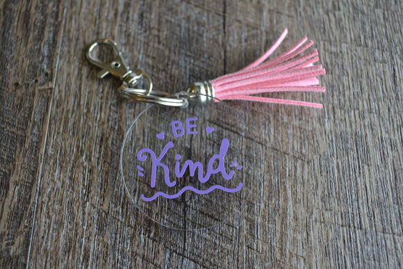 Acrylic Circle Keychain - Be Kind - Dream Lily Designs