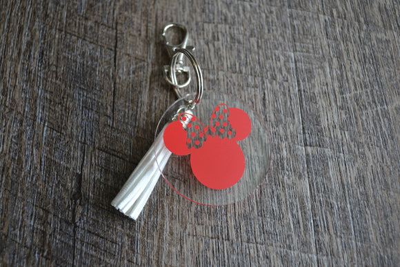 Acrylic Circle Keychain - Minnie Mouse - Dream Lily Designs