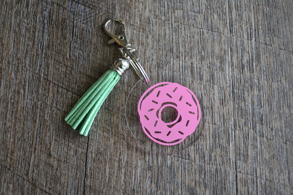 Acrylic Circle Keychain - Donut - Dream Lily Designs