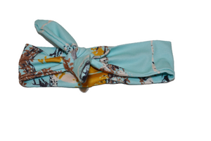 Light Blue Knot Headband with Trees 1