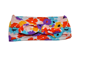 Colorful Flower Knot Headband - Dream Lily Designs