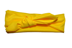 Yellow Knot Headband - Dream Lily Designs