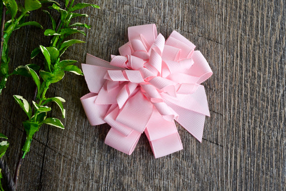 Korker Stacked Boutique Hair Bow - Light Pink - Dream Lily Designs