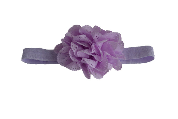 Light Purple Lace Eyelet Flower Headband - Dream Lily Designs