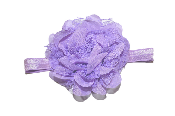Light Purple Lace Flower Headband
