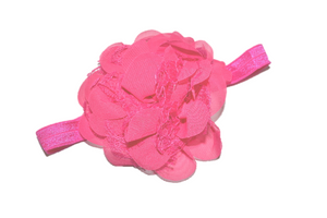 Pink Lace Flower Headband - Dream Lily Designs