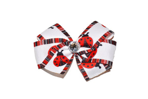 Bordered Lady Bug Bow (Animal) - Dream Lily Designs