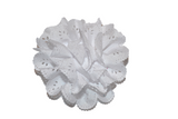 White Lace Cutout Flower Hair Clip - Dream Lily Designs