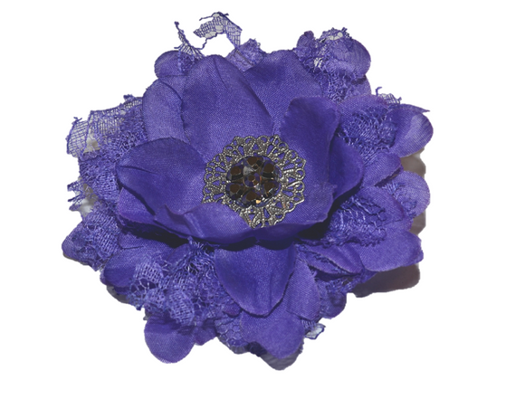 Purple Lace Flower Hair Clip - Dream Lily Designs