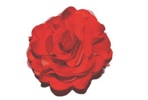 Large Silk Puff Flower Hair Clip - Red - Dream Lily Designs