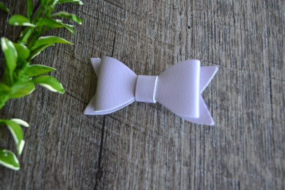 Baby Pink Leather Bow - Dream Lily Designs