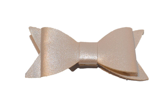 Ivory Pearl Leather Bow