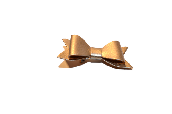 Gold Leather Bow - Dream Lily Designs