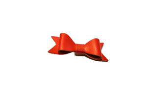 Red Leather Bow - Dream Lily Designs