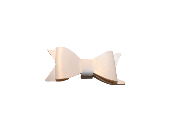 White Leather Bow - Dream Lily Designs