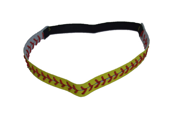 Softball Leather with Lacing Elastic Headbands - Dream Lily Designs