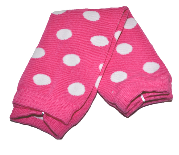Pink and White Polka Dot Leg Warmers - Dream Lily Designs