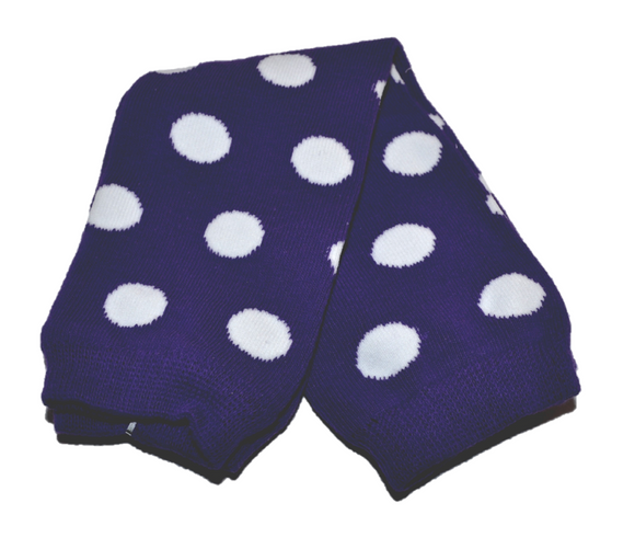 Purple and White Polka Dot Leg Warmers - Dream Lily Designs