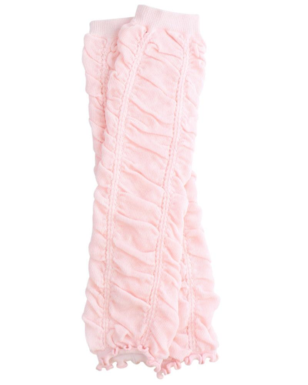 Light Pink Ruching Leg Warmers