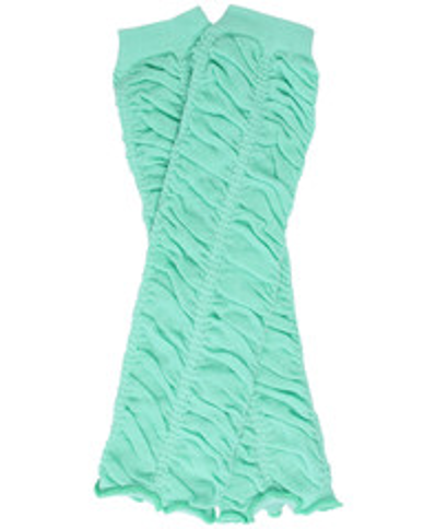 Mint Ruching Leg Warmers