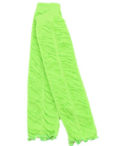Neon Green Ruching Leg Warmers