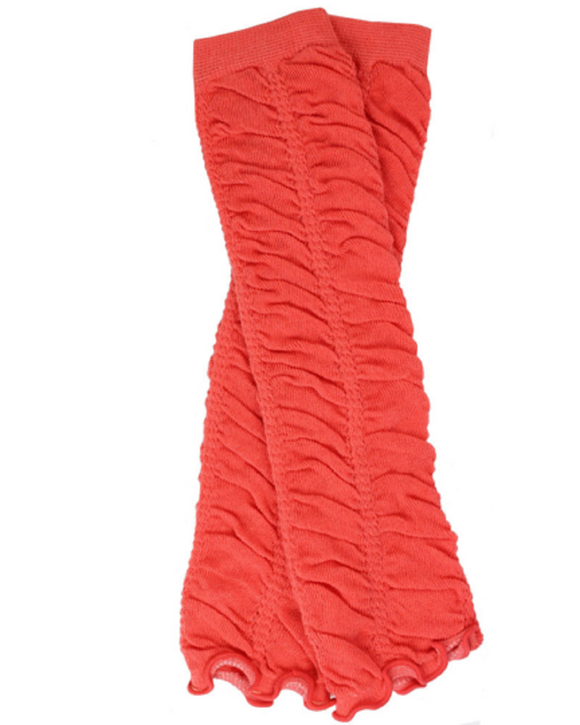 Coral Ruching Leg Warmers
