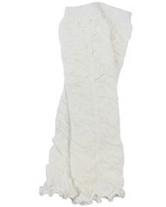 White Ruching Leg Warmers - Dream Lily Designs